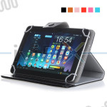 Leather Case Cover for Hannspree HannsPad T76B Quad Core 10.1 Inch Tablet PC
