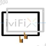 Remplacement CX-10136A1-PG-FPC355-V3.0 Écran tactile pour 10.1 Pouces Tablette PC